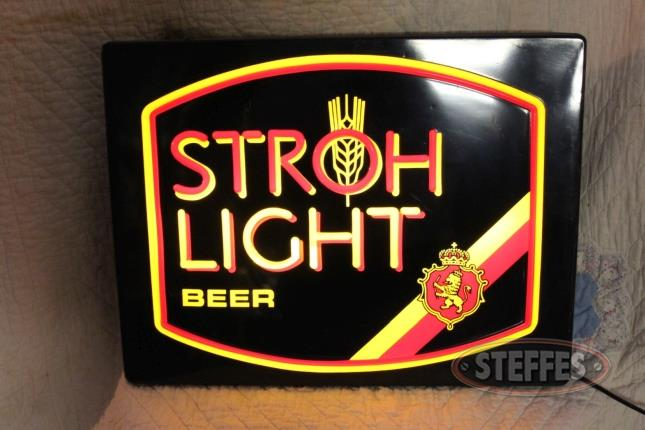 Stroh Beer Lighted Sign