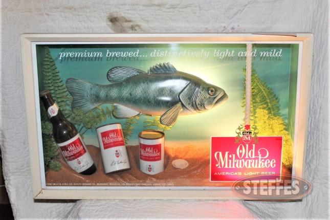 Old Milwaukee Framed Lighted Sign