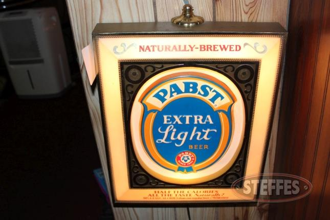 Pabst Extra Light Beer Lighted Sign