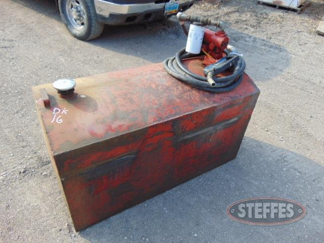 Service tank, 110 gal., used for diesel,