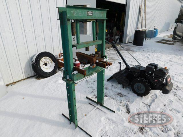 Shop press w/jack, 20 ton