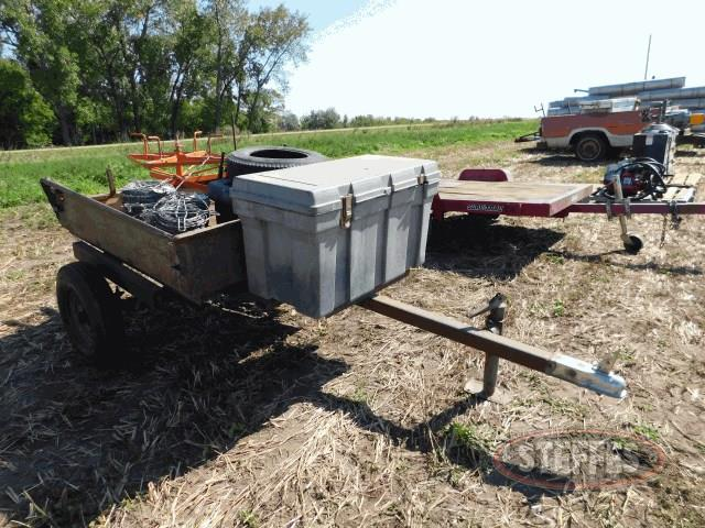 Single axle trailer, 4'x4',