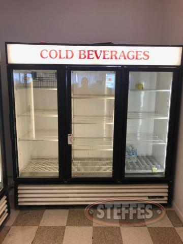 True Manufacturing 3 Door Fridge Unit