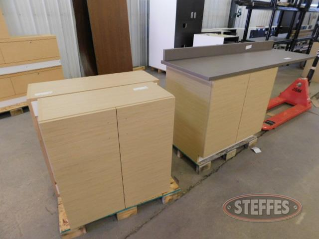 (3) piece storage cabinet set: