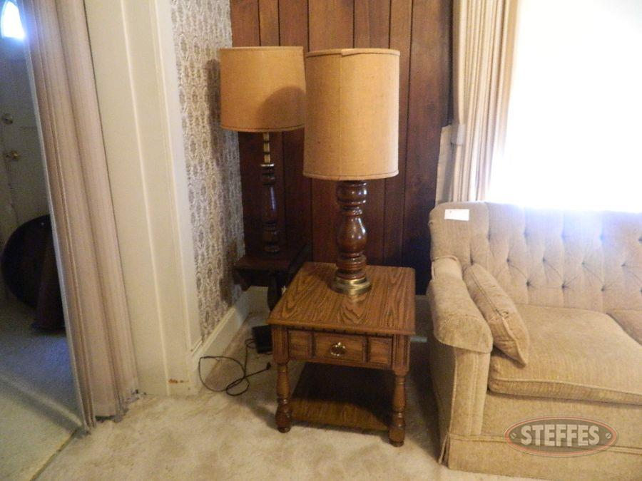 End Table, Lamp, and Floor Lamp
