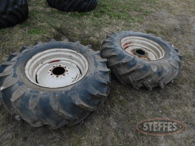 (2) 13-26 tires on 8-hole rims,