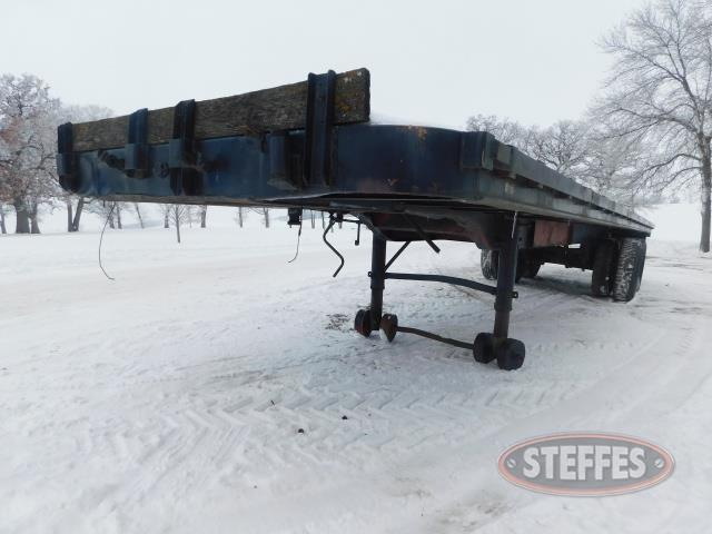 "Semi trailer, 35'x96"", spring ride, wood deck, steel wheels, *No Title,"