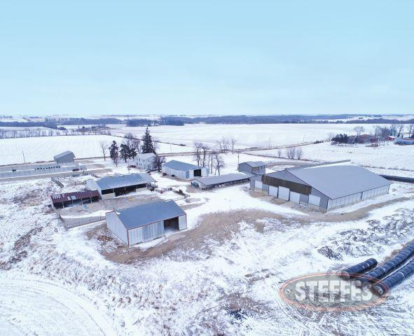 Tract #1 – Livestock Dairy Facility with Five Bedroom Home on 11 Acres M/L – (Subject to final survey)