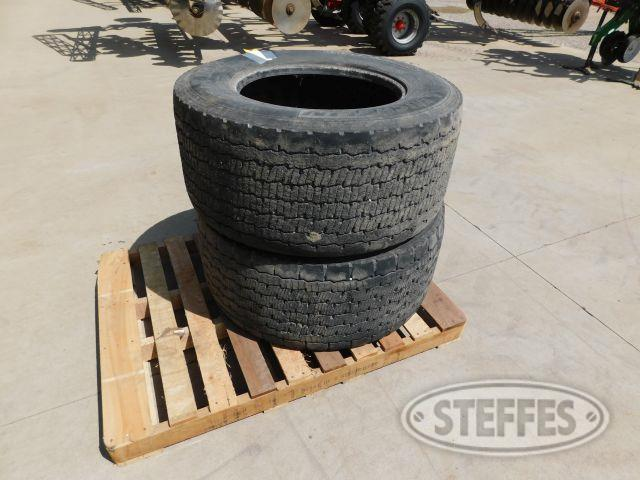 (2) Michelin 445/50R22.5 Tires