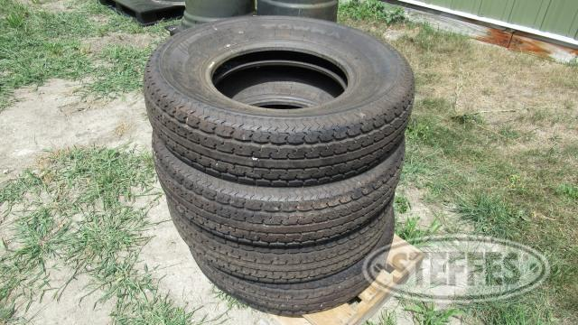 (4) ST235/80R16 radial tires, New