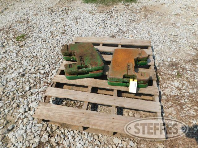 (4) John Deere Front End 110 Lb. Weights