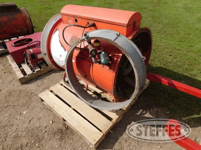 "Aeration fan, 24"", 10 hp., 1 phase"