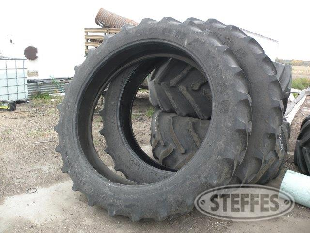 (2) 380/85R54 tires,