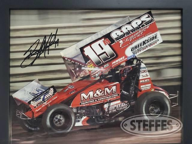 Brent Marks framed photo car #19M - Autographed