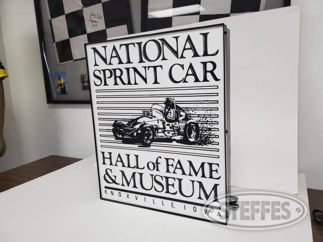 National Sprint Car Hall of Fame lighted sign