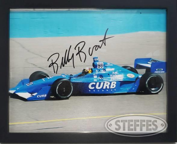 Billy Boat framed photo Indy Car – Autographed