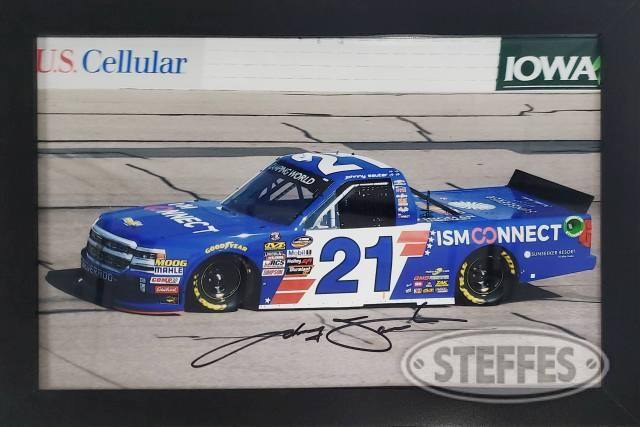 Johnny Sauter framed photo #21 – Autographed